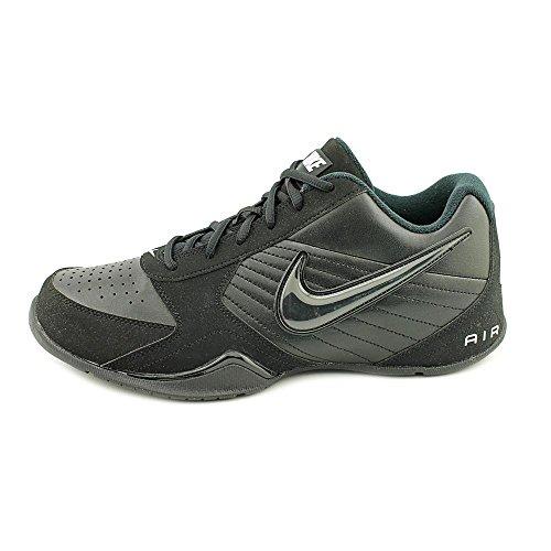 Nike Air Baseline Low Hommes Cuir Baskets Black-Black-White