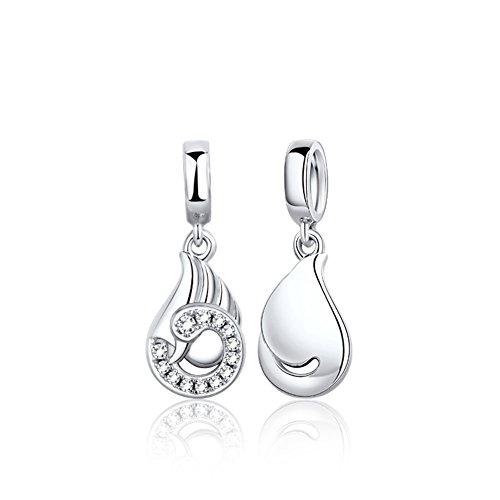 925Argent perles corde/ corde/ bracelet de cygnes C