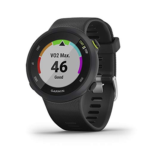 Garmin Forerunner 45 GPS Running Watch with Garmin Coach Training Plan Support - Black, Large