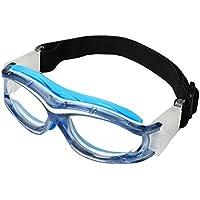 Gafas protectoras para niños, ideales para jugar al baloncesto, golf, rugby, fútbol, resistentes a impactos, lentes intercambiables, con correa ajustable, azul