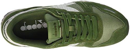 Diadora Titan Ii, Pompes à plateforme plate mixte adulte Vert (Verde Olivina/Verde Fucile)