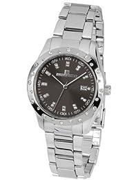 Acero inoxidable–Circonita–Reloj 39–Plata/Negro