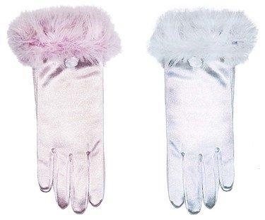 Weisse oder rosa Prinzessin-Handschuhe für ()