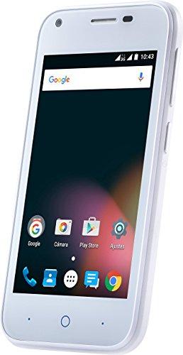 ZTE Blade L110 Smartphone (10,2 cm (4 Zoll) Display, 5 Megapixel Kamera, 4 GB Speicher) Weiß