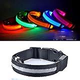 Egurs Safety LED Hundehalsband USB wiederaufladbar Leuchtend in Dunkelblau XL