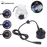 Zeerkeer Nebulizzatore a LED Ultraveloce,12 LED,a ultrasuoni nebulizzatore a LED, Adatto per Fontane Interne o Esterne, Giochi d'acqua e Applicazioni in Ufficio