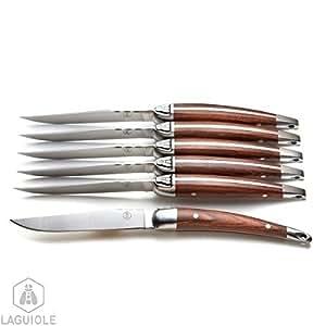 Laguiole coffret 6 couteaux laguiole haut de gamme manche - Couteaux de cuisine professionnel haut de gamme ...