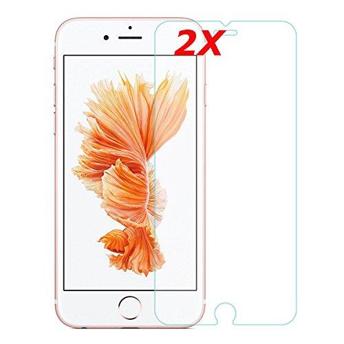 [2 Stück] iPhone 6/6S/7/8 Panzerglas Schutzfolie Panzerglasfolie iPhone 6 / iPhone 6s / iPhone 7 / iPhone 8 , 3D Touch Kompatibel, 9H Härte, Anti-Kratzen, Anti-Öl Schutzglas