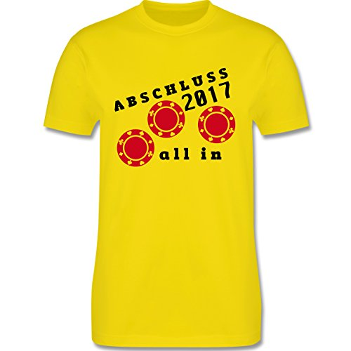Abi & Abschluss - All In - Abschluss 2017 - Herren Premium T-Shirt Lemon Gelb