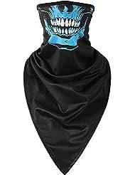 RedBee Balaclavas Mascarilla de Moto Cubierta de la Cara de Invierno Máscara de Media Calavera Azul Cubierta de Bicicleta para Hombres y Mujeres