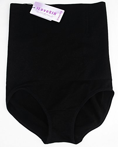 iLoveSIA Damen Miederslip 2Pack(Black+Nude)