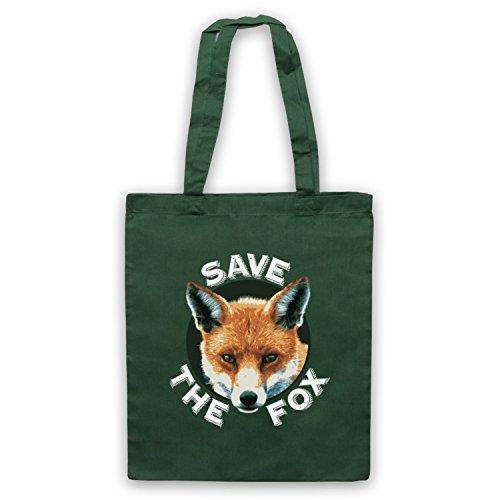 Save The Fox Protest Umhangetaschen Dunkelgrun