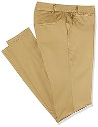 Park Avenue Womens Skinny Fit Pants (PWTY00675-F6_Dark Fawn_81)