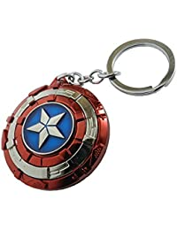 Techpro Multicolor Avengers Superhero Captain America Shield Keyrings & Keychains