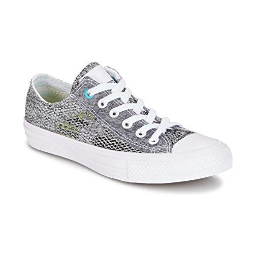 Converse Ct All Star Ii OX Lunarlon Damen Sneakers Grey Blue - 4 UK