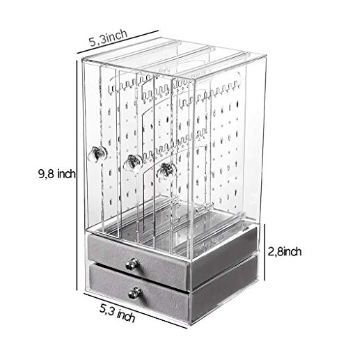 Ycf Schmuckständer Ohrringhalter Schmuckkasten Damen Aufbewahrungsbox Aufbewahrung Kettenständer Ohrringständer Schmuckkästchen