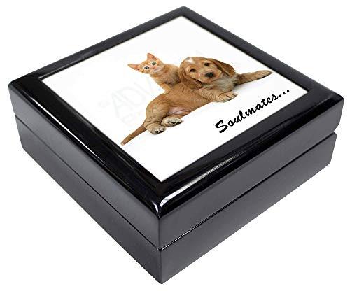 Advanta - Jewellery Boxes Spaniel und Kitten 'Soulmates' Andenken/Schmuck Box Weihnachten Geschenk -