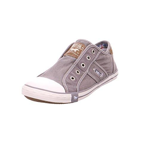 Mustang Damen Canvas Sneaker Silbergrau, Schuhgröße:EUR 43