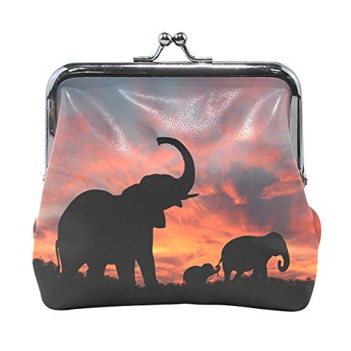 COOSUN Los Elefantes disfrutan de espectaculares Puesta del Sol de Piel Moneda...