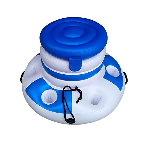 ZFW Wasser Aufblasbare Eiskübel Tasche Freizeit Handyhalter Cola Getränkeflasche Cup Bracket Holder, Pool Schwimm Lagerung -