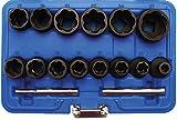 BGS 5269 Juego de Llaves de Vaso Especiales,extractores de Tornillos, Entrada 12,5 mm (1/2'),...