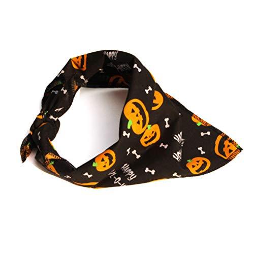 POPETPOP Perros Gatos Bandana para Halloween, Ajustable Cachorro triángulo écharpes, Baberos Accesorios...