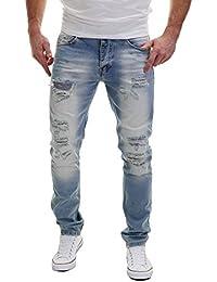 MERISH Hombres Vaqueros Pantalones ver destruido Straight Fit parcheado moderno y casual, Modell J2073