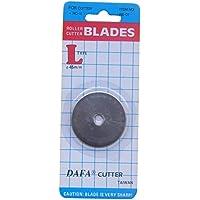 Dafa - Hoja de repuesto para cortador giratorio (45 mm), color plateado