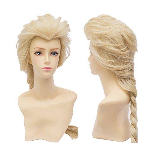 Perücke Kostüm Elsa - COSPLAZA Cosplay Wigs Kostueme Perücken 65cm lang Princess Queen synthetische Voll Haar hellblond
