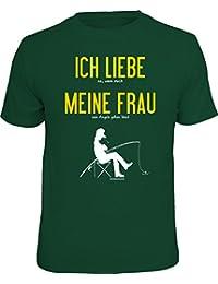 Original RAHMENLOS T-Shirt für Angler und Fischer: Ich liebe meine Frau...