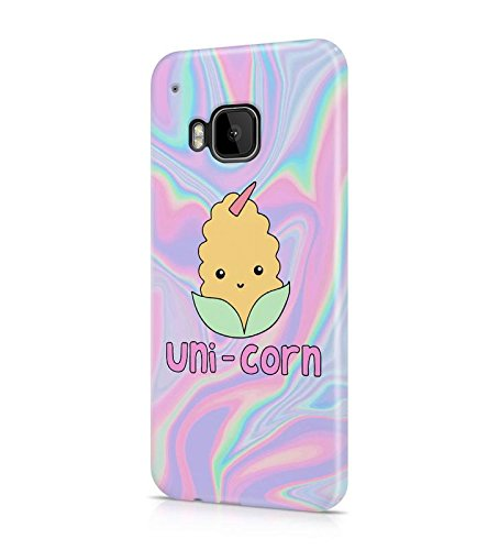 Cute Corn Einhorn Soap Tye Dye Holographic Psy Iridescent Rainbow Colors Print Durable Hartplastik Snap On Handytasche Case Cover Hülle Für HTC One M9 (Print Rainbow Screen)