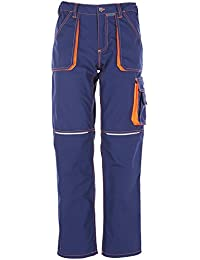 Planam Bundhose Basalt Neon, größe 102, marine / orange / mehrfarbig, 6221102