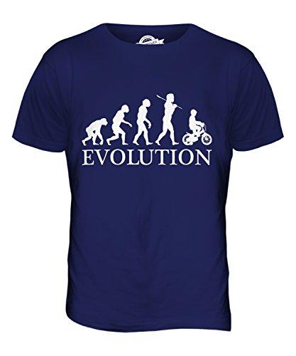 CandyMix Fahrrad Evolution Des Menschen Herren T Shirt Navy Blau