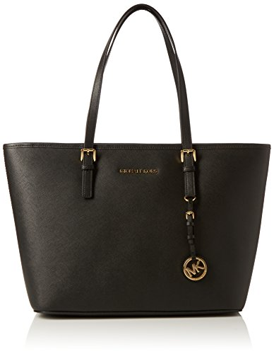 Michael Kors Jet Set Travel, Borsa Tote Donna, 12.7 x 29.2 x 43.2 cm (W x H x L) Nero(Black 001)