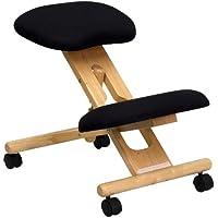 Muebles Flash móvil de madera ergonómico silla de inclinación, color negro
