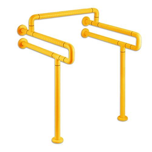 WSSF- Haltegriffe Edelstahl-Handläufe doppelte U-Art mit Querbalken barrierefreier Sicherheit Gleitschutzstützgriff für die ältere behinderte Farbe optional ( Farbe : Gelb )