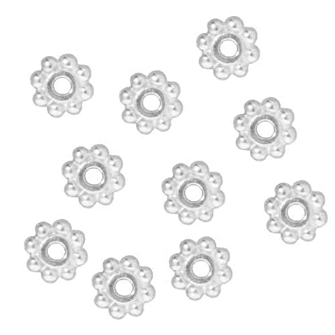 Angel Malone 100 x 5mm, 2mm thick Silver Daisy Spacer