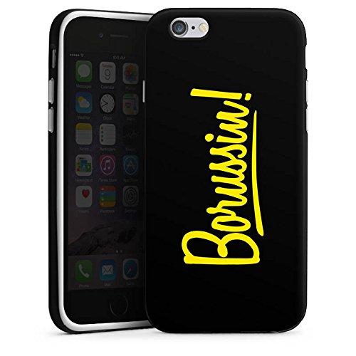 Apple iPhone 7 Silikon Hülle Case Schutzhülle Borussia Dortmund Borussin Fanartikel Silikon Case schwarz / weiß