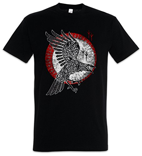 Urban Backwoods Norse Raven T-Shirt - Hugin and Munin Raben Odhins Ravens Viking corbeau vichingo Corvo Dios germánico Cuervo Tamaños S - 5XL