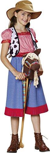 Zubehör Mädchen Kostüm Schule - Golden Lutz - Kinder Mädchen Kostüm Cowboykostüm | Cowgirl | Westernkostüm | Kinderkostüm (Größe M, ca. 7-10 Jahre)