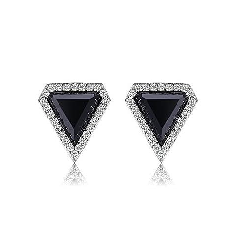 JewelryPalace Fancy 4.7ct Erstellt schwarze Spinel Ohrstecker 925 Sterling Silber