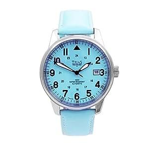 Trias - TR-T22337-190-HBL - Montre Homme - Automatique - Analogique - Bracelet cuir Bleu