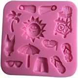 LYNCH Playa del cuidado del bebé Material de silicona en forma de molde antiadherente de la torta de Herramientas,Rosa