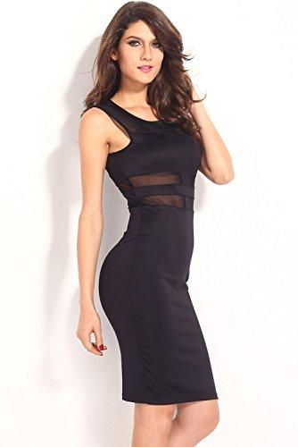 E-Girl femme Noir SY6269 robe de cocktail Noir