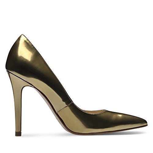 ALINA Damen Pumps Brushleder Gold