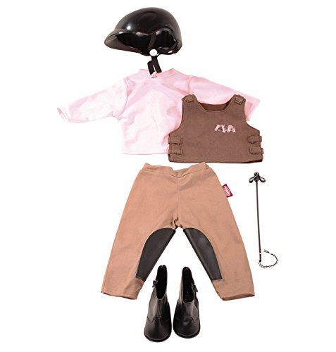 ation Reitspaß - Reiter Outfit Puppenbekleidung Gr. XL - 7-teiliges Bekleidungs- und Zubehörset für Stehpuppen 45 - 50 cm (7 Bekleidung)