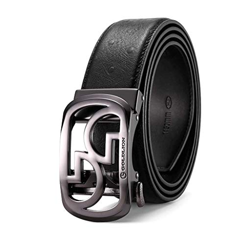 59c99c0875fb Leather Belt Men s Handmade Leather Belts Pin Buckles Belts First Layer  Cowhide Jeans Black 1 120cm