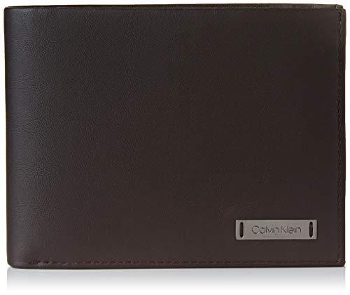 Calvin Klein Herren Smooth W Plaque 5 Cc Coin Münzbörse, Schwarz (Black), 0.1x0.1x0.1 cm