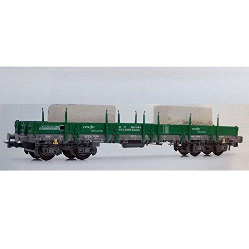 electrotren-ho-vagon-plataforma-bogies-verde-y-gris-c-bloques-hormigon-hornby-e5192