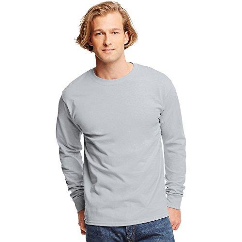 Shirt Tagless T Hanes Ash Sleeve Long qvwIOp